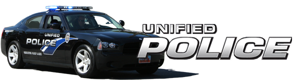 Image of police car with the words Unified Police