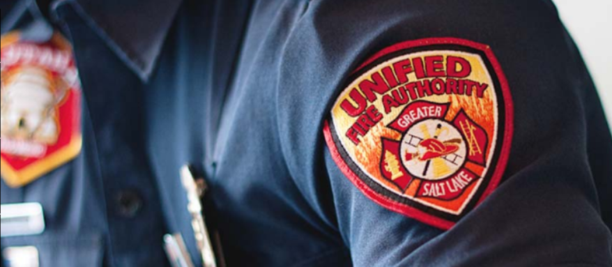 Image of Unified Fire Patch on a shirt