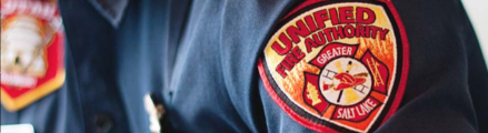 Image of UFA patch on a shirt