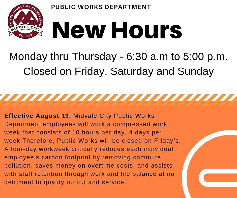 Public Works hours now closed on Fridays