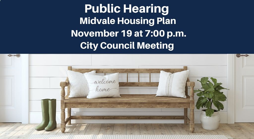 Public Hearing Housing Plan Nov 19 7pm pictured with porch boots and bench