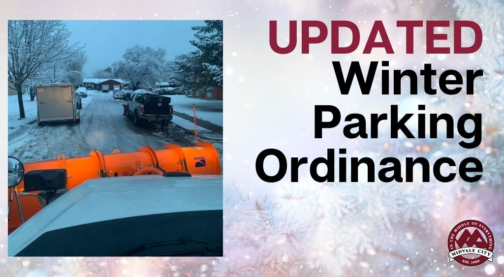 Website Winter Parking Ordinance Updated with picture of snow plow