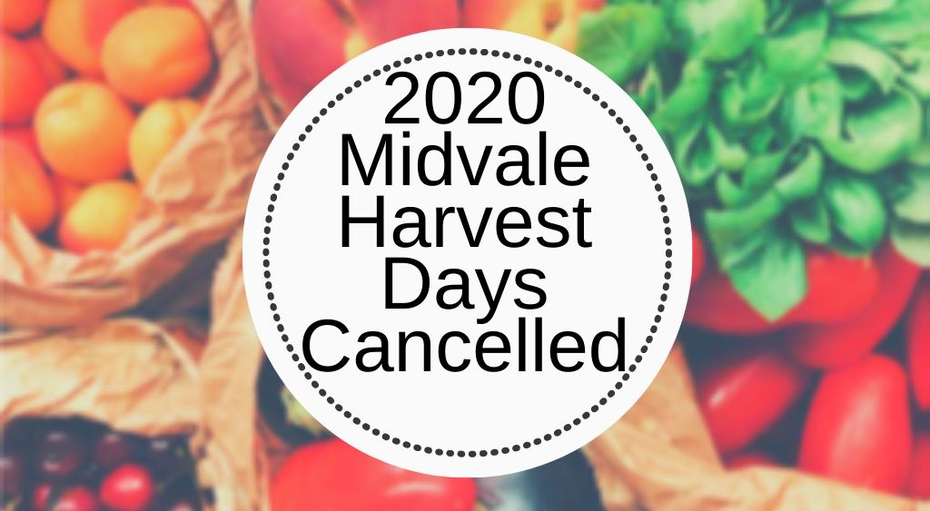 Harvest Days Cancelled