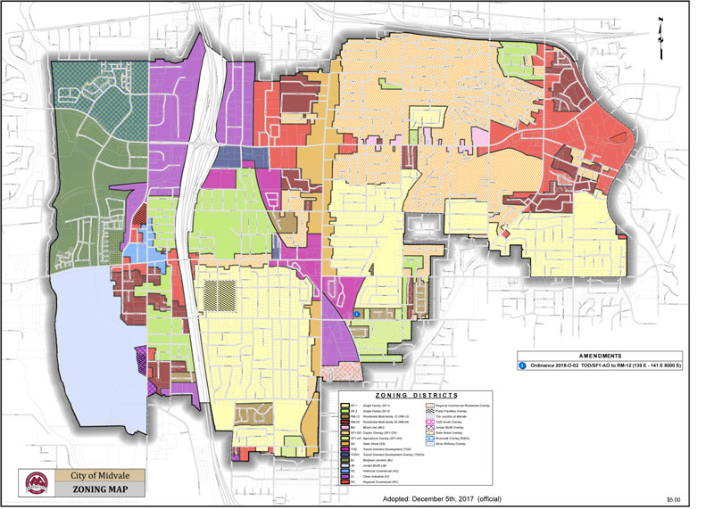 Zoning Map Midvale Ut
